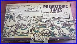 Marx Prehistoric Dinosaur Playset #3390 clean and near perfect
