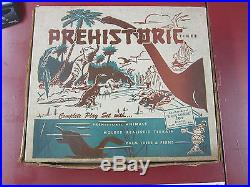 Marx Prehistoric Dinosaur Playset unnumbered #3388 square box series