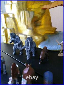 Marx Prehistoric Mountain Terrain with Superior/Marx Cavemen, Dinosaurs, & More