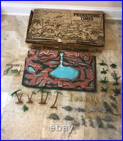 Marx Prehistoric Times Play Set Dinosaurs Series 1000 No 3390 With Box Used 1957