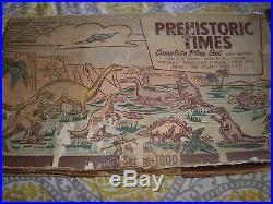 Marx Prehistoric Times Playset