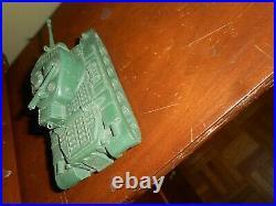 Marx RARE American Army Battleground Desert Fox Large Dark Green #51 Tank