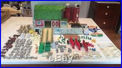 Marx Rare # 5926 Happi Time Platform Farm Barn Set Vintage 1961