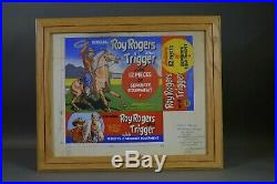Marx Rare Roy Rogers and Trigger Hand Painted Signed Art Work