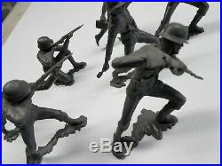 Marx Rare Stabbing German Battleground Marx Toys Lot 7 Pcs. Complete Set Rare