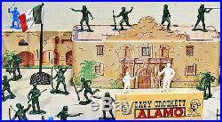 Marx Recast Alamo Playset 54mm Plastic Toy Soldiers with Marx litho Alamo fort
