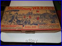 Marx Revolutionary War play set 500 series in original box numbered 3401