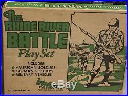 Marx Rhine River Battleground Play Set Box#4187MO