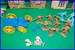 Marx Rifleman Ranch Playset with Tin Buildings Series 1000 Box No. 3997-98