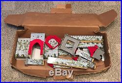 Marx Robin Hood Castle Set 4718 Box And Castle Only C. 1960 Sears Sticker