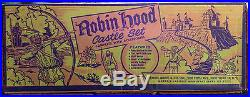 Marx Robin Hood No. 4720 Playset with Box, Robin Hood, Maid Marion, Friar Tuck