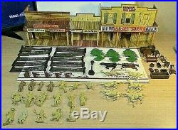 Marx Roy Rogers Mineral City Tin Play Set Horses Trees Men Chairs Accessories