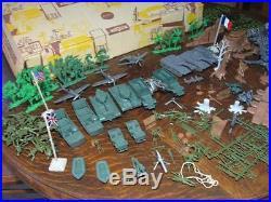 Marx Sears Allstate Battleground Playset WWII European Theater #5950