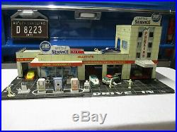 Marx Sears Allstate Happi-Time Service station with elevator Tin Toy + 6 ARCO cars