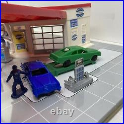 Marx Sears Allstate Service Center Tin Litho Plastic Playset 1971 NOT REPRO