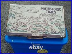 Marx Series 1000 Prehistoric Times Play Set 3390 Dinosaurs Cavemen 1957
