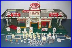 Marx Service Center Playset Gas Station Garage Sears Loads Of Accessories Toy Us