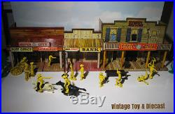 Marx Silver City Western Playset Figures & Town Accessory lot 50 Pieces