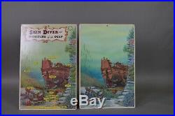 Marx Skin Diver and MONSTERS of the DEEP- Blister Card Original Art Work