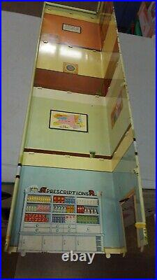 Marx Skyscraper Playset Bank amd RX Drugs Building Sections(2)Front & Sides L@@K