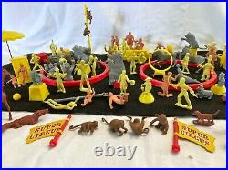 Marx Super Circus Vintage 1950's Large Lot of Figures Animals and More Play Set