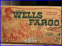 Marx Tales Of The Wells Fargo Play Set Series 500 Box#4263