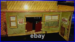 Marx Tales Of Wells Fargo Tin Litho Marx Train Set Building