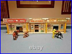 Marx Tales of Wells Fargo Western Town c1959, Tin withextras