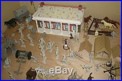 Marx The Blue and The Gray Playset approx 234 pieces incl Medical Wagon