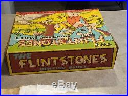 Marx The Flintstones Hunting Party Play Set Box#2288