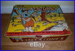 Marx The Flintstones Hunting Party Playset Original Box RARE figures dinosaurs