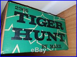 Marx Tiger Hunt playset shooting target game soldier jungle gun EXTREMELY RARE