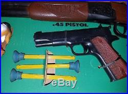 Marx Tiger Hunt playset shooting target game soldier jungle gun EXTREMELY RARE