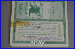 Marx Toy Co RARE. Stock Certificate Signed By Louis Marx