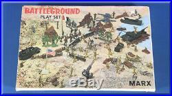 Marx Toys Battleground #4756 World War 2 Wwii Play Set German Nazis USA Soldiers