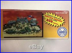 Marx Toys Giant Battle Ground Action Playset With Flying F-18 # 4113/NEWithSealed