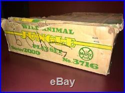 Marx Toys Large Animal Jungle Playset 1960 lots of extra animals with box