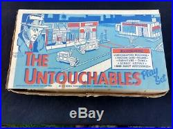 Marx Toys THE UNTOUCHABLES 1961 Desilu Productions Mobster Play Set Game
