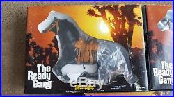 Marx Toys The Ready Gang RARE 3 Horse Set NIB Dagger Midnight & Thunder