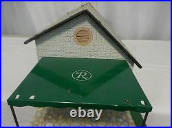 Marx Toys Tin Litho 1 Story Ranch Doll House with Patio + Furniture Vintage