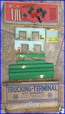 Marx Trucking Terminal Playset Set Accessories 1950s Clean Litho Box