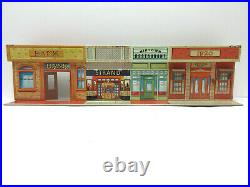 Marx Untouchables Tin Litho Town Front & Warehouse Playset Buildings 2 Pc Lot