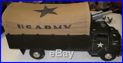 Marx Us Army Convoy With Tuck Jeep Seachlight Cannon & 60mm Figures Boxed Rare