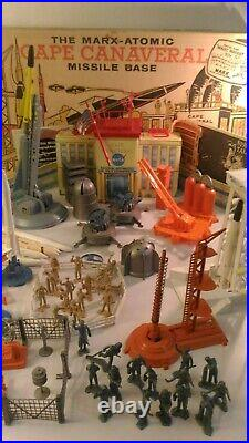 Marx Vintage Cape Canaveral Missile Playset with Box with extra pieces & Instruction