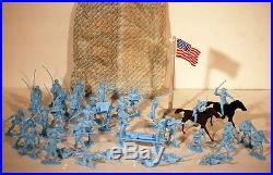 Marx Vintage Heritage Sears Giant Blue Gray Civil War Play Set