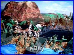 Marx Vintage Iwo Jima Battleground Playset