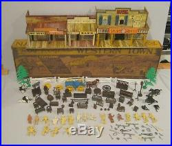 Marx Vintage No. 4258 Roy Rogers Western Town Playset, Boxed