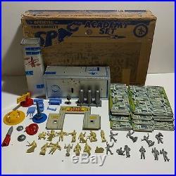 Marx Vintage Official Tom Corbett Space Academy Playset Figures Box