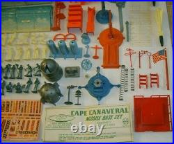 Marx Vintage Original Cape Canaveral Missile Space Era Playset with Box