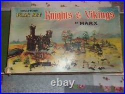 Marx Vintage RARE Knights & Vikings Miniature Play Set